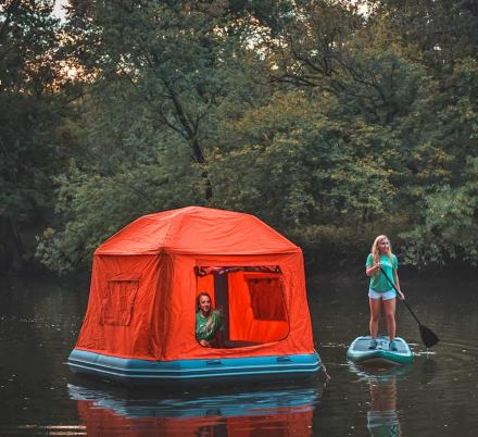 The Shoal Tent Is a Floating Tent That Lets You Sleep on a Lake