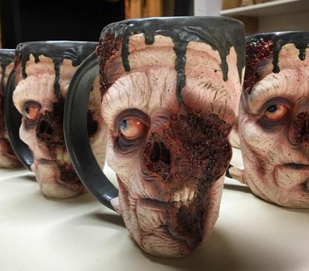 The Slow Joe Zombie Mugs are Amazingly Realistic Zombie Coffee Mugs
