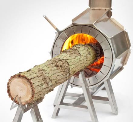 The Spruce Stove Lets You Burn an Entire Tree