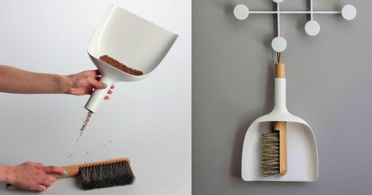 The Sweeper & Funnel Has a Dustpan With a Funnel