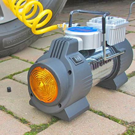 This Portable Car Tire Pump Can Inflate Your Tires in an Emergency