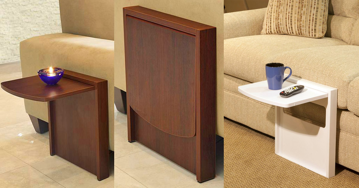 The Tuc-Away Table is a Side Table That Flips Up When You Need It