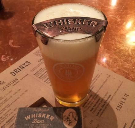 The Whisker Dam Keeps Your Mustache Dry While Drinking