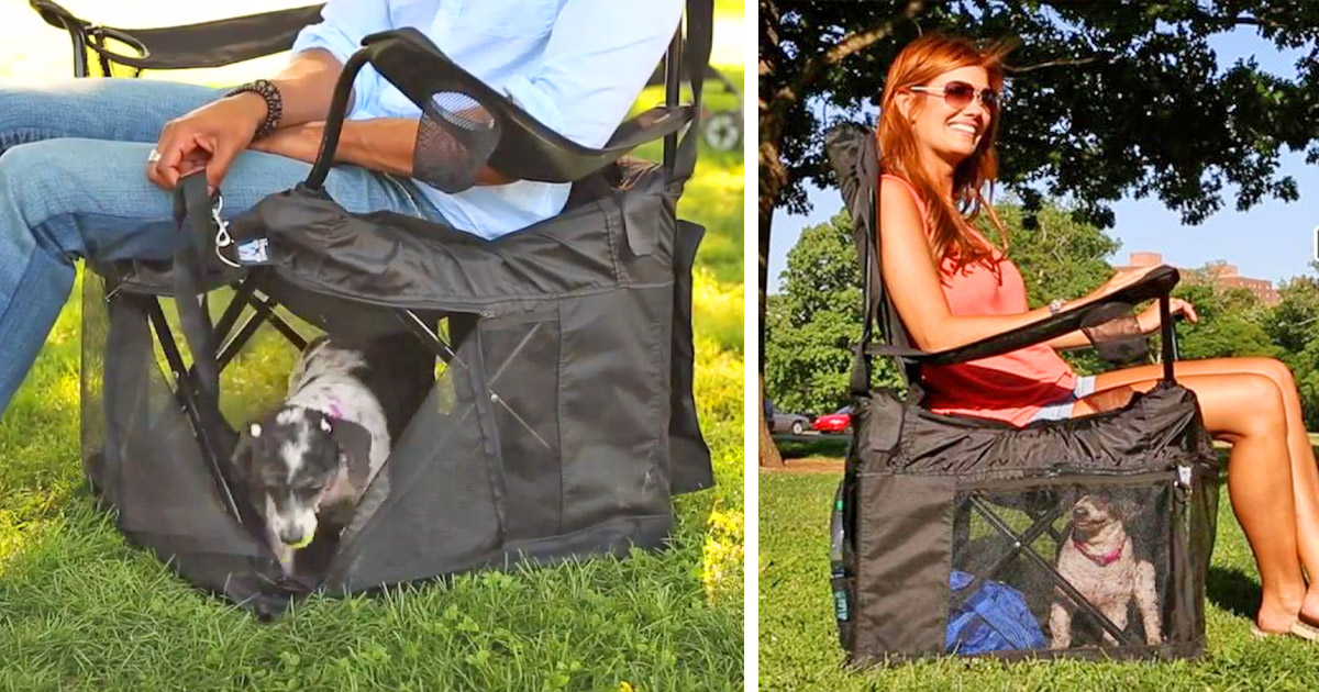 The Wrapsit Converts Your Lawn Chair Into A Pet Crate