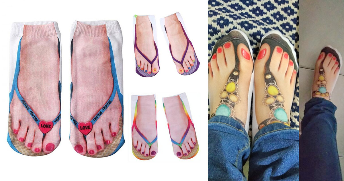 There Are Human Feet In Sandals Socks For People With Ugly Feet