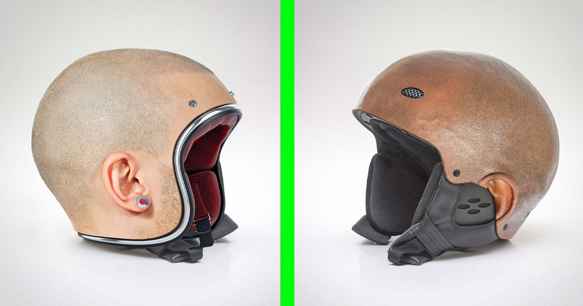 There Are Motorcycle Helmets That Are Modeled After Actual Human Heads