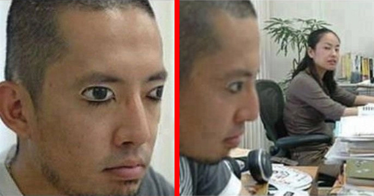 There Are Now Eye Shaped Stickers That Help You Sleep At Work/Class With No One Being The Wiser