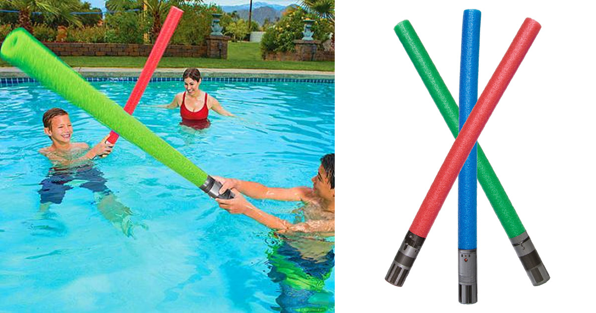 There Are Now Lightsaber Pool Noodles That