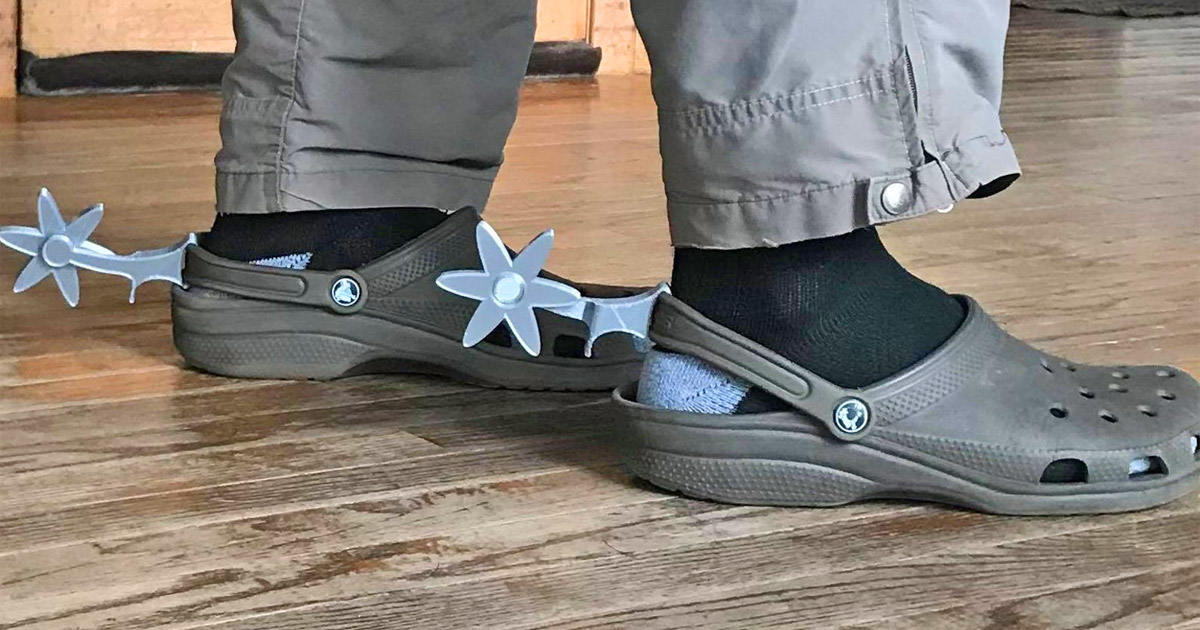 There Are Now Spurs That You Can Attach To The Back Of Your Crocs