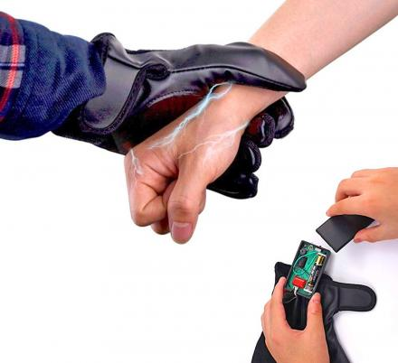 There Are Now Stun Gun Gloves That Shock Attackers By Grabbing Them
