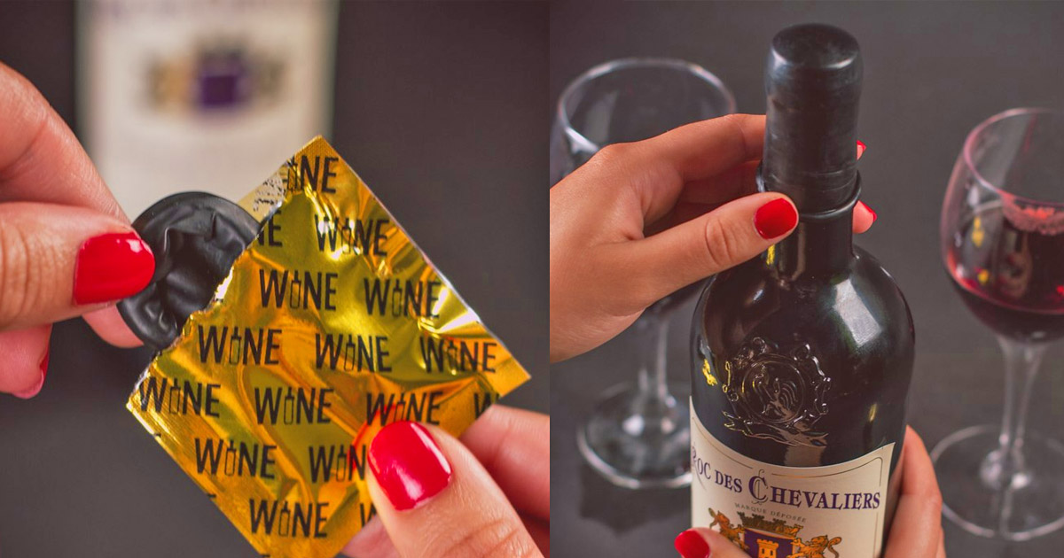 There Are Now Wine Condoms That