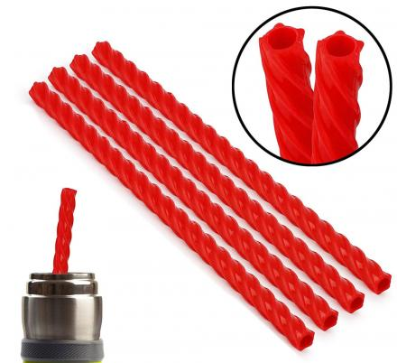 There Are Reusable Straws That Look Like Red Licorice Vines