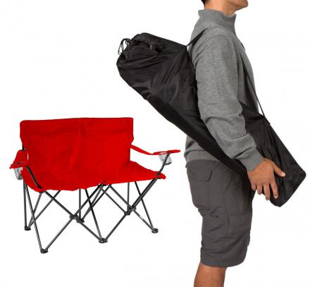 There's a Loveseat Lawn-chair That Exists Which Lets You Get Cozy While Camping