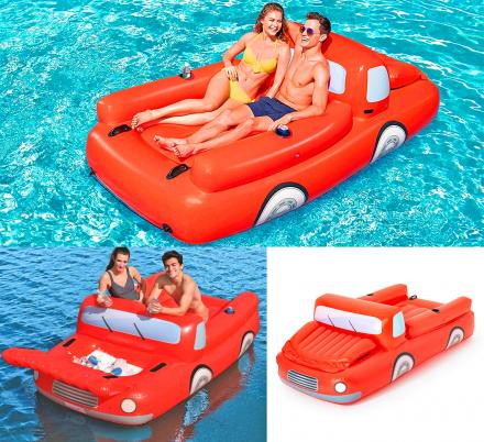 There's Now a Giant Pickup Truck Pool Float That Has a Cooler Under The Hood
