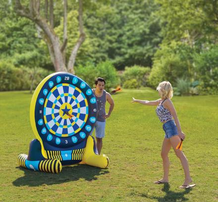 There's a 6 Foot Inflatable Backyard Dart Board For Giant Games Of Darts