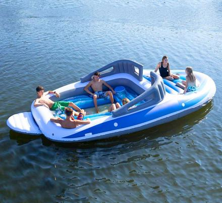 There's a Life-size Inflatable Speed Boat For Those That Can't Afford The Real Thing