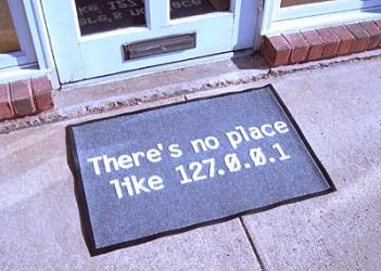 Theres No Place Like 127.0.0.1 Doormat