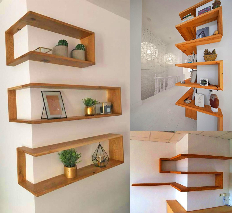These Around The Corner Shelves Make For A Unique Design Idea