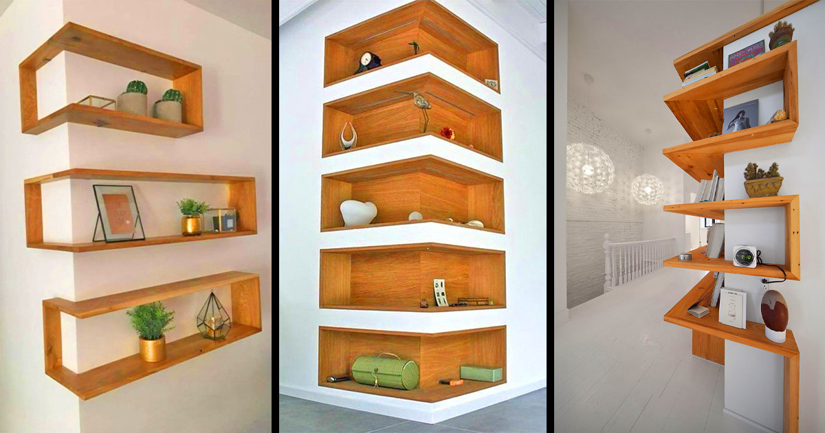 These Around The Corner Shelves Make For a Unique Design Idea
