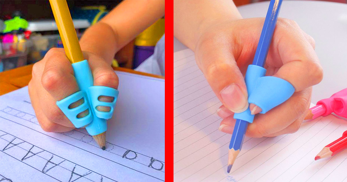 These Awesome Pencil Grips Teach Kids How To Properly Grip a Pencil