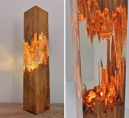 These Beautiful Epoxy Wooden Lamps Are Made From a Broken Piece of Wood
