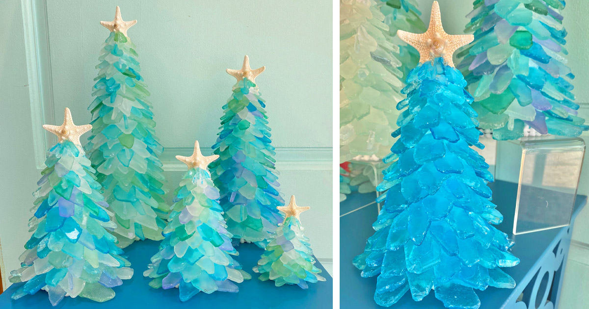 These Beautiful Sea Glass Christmas Trees Will Give Your Christmas a Tropical Feel