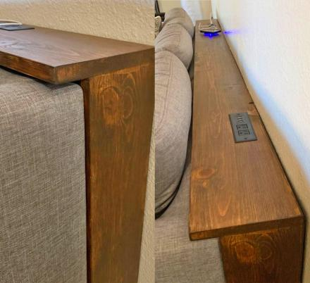These Behind The Couch Tables With Integrated Outlets Are Becoming A Thing, And We Love It