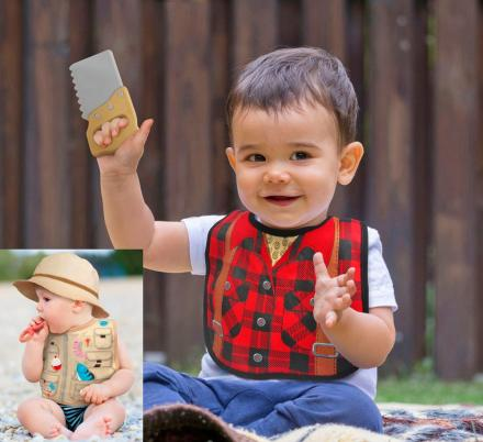 These Bib and Teether Sets Turn Your Baby Into a Lumberjack or Fisherman