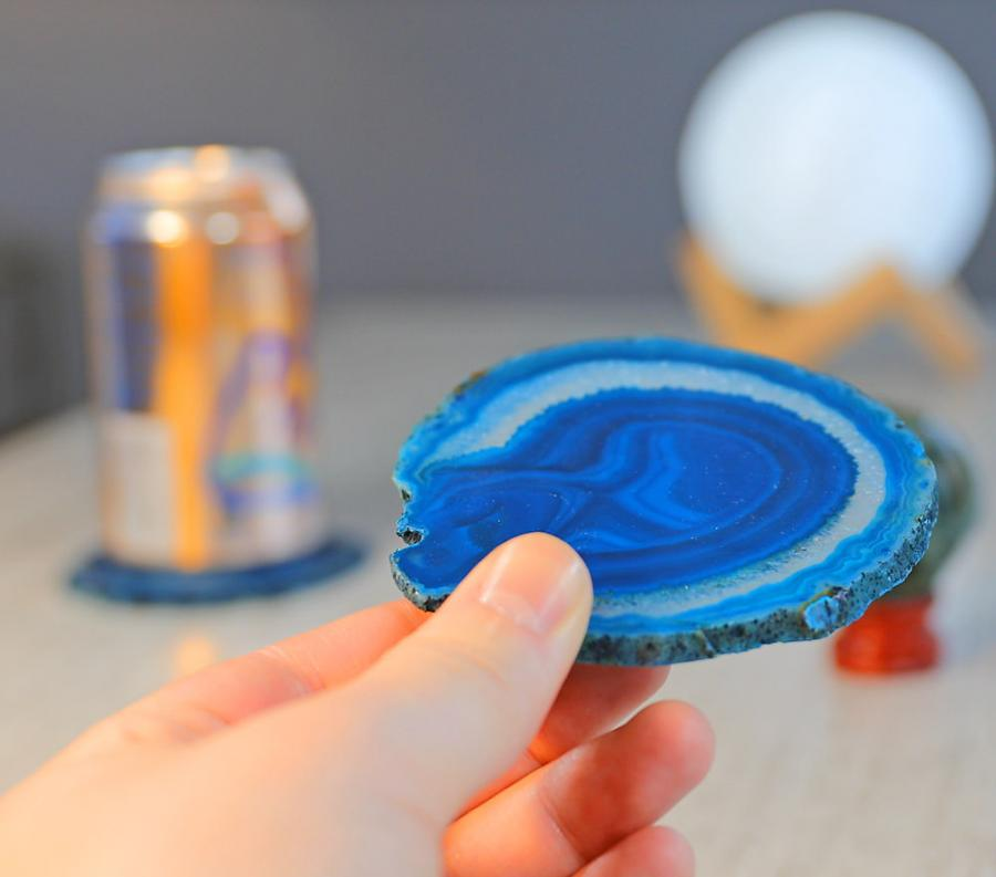 These Coasters Are Made From Real Sliced Geodes - Coasters made from photos
