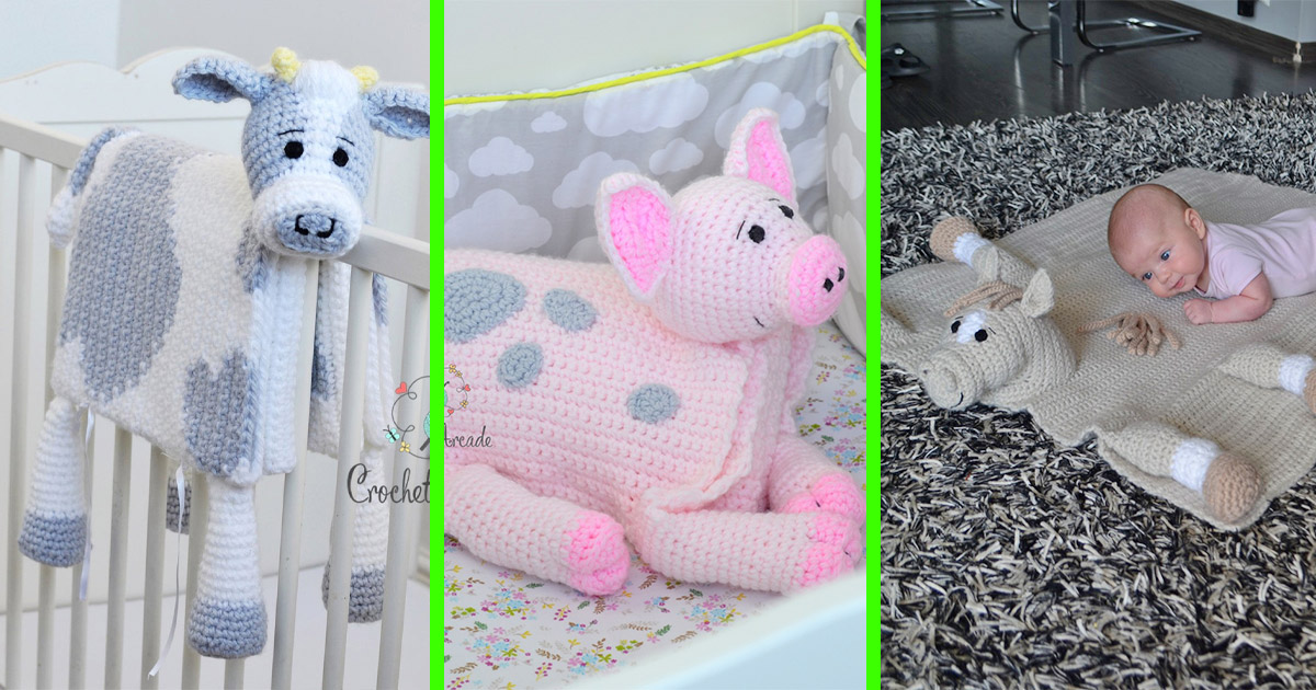 These Crochet Animal Head Blankets Are The Perfect Idea For Newborns