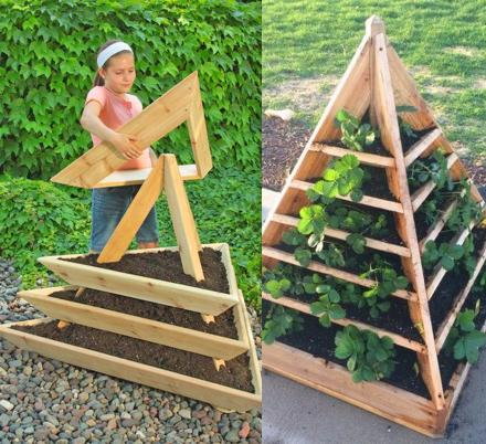 These DIY Pyramid Planters Lets You Grow Strawberries In The Coolest Way Possible