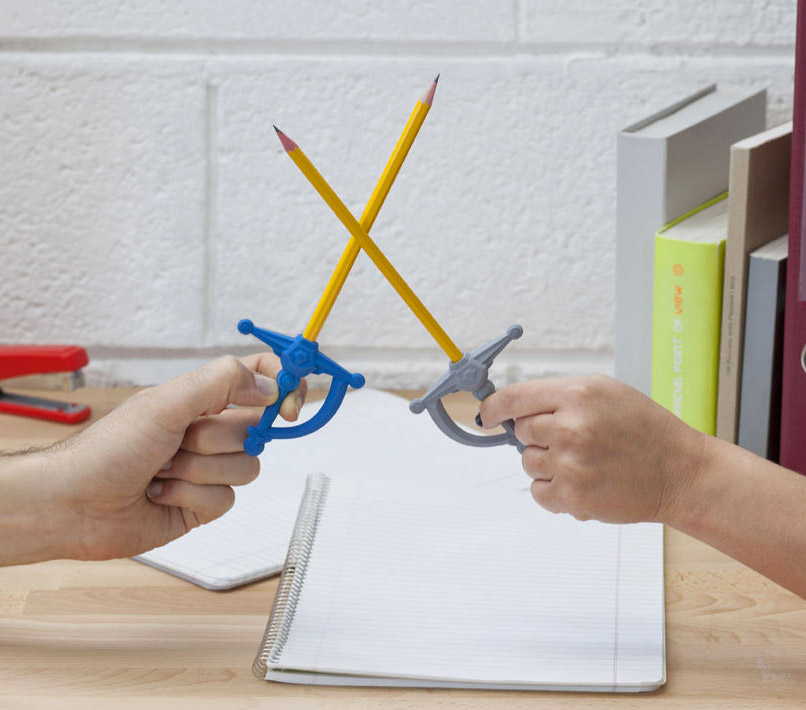 These Erasers Turn Your Pencil Into a Sword