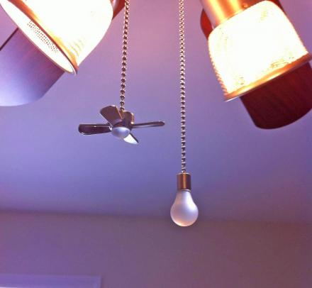 These Fan and Light Bulb Shaped Pull Chains Just Make Sense