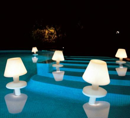 These Floating Lamps Drift Through Your Pool To Illuminate The Water