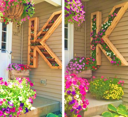 These Giant Letter Shaped Planters Are The Coolest Way To Customize Your Front Entrance