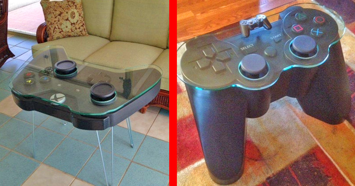 These Giant Xbox and Playstation Controller Coffee Tables Are Perfect For Any Game Room