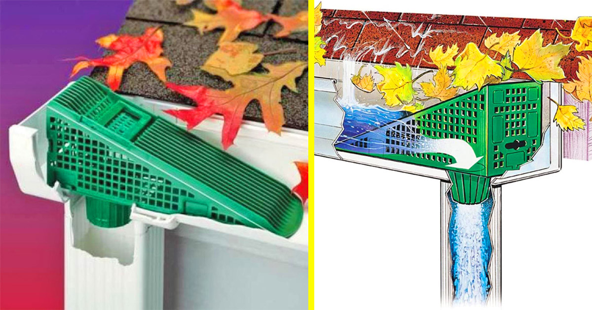 These Gutter Downspout Leaf Filters Are A Super Easy Way To Keep Your Downspouts Clear