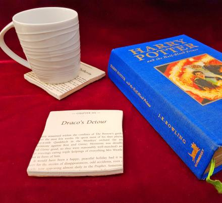 These Harry Potter Novel Coasters Let You Read a Page Every Time You Put Your Cup Down