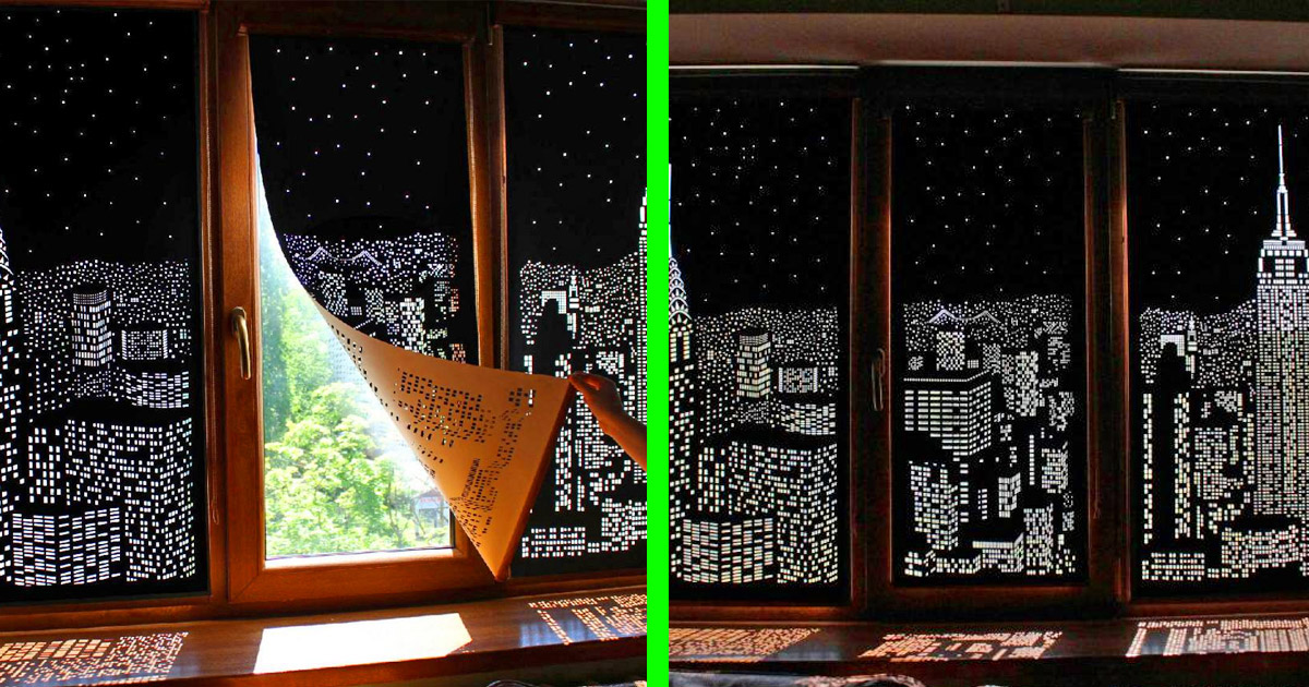 These Incredible Blackout Curtains With Holes Create Amazing City Designs on Your Windows