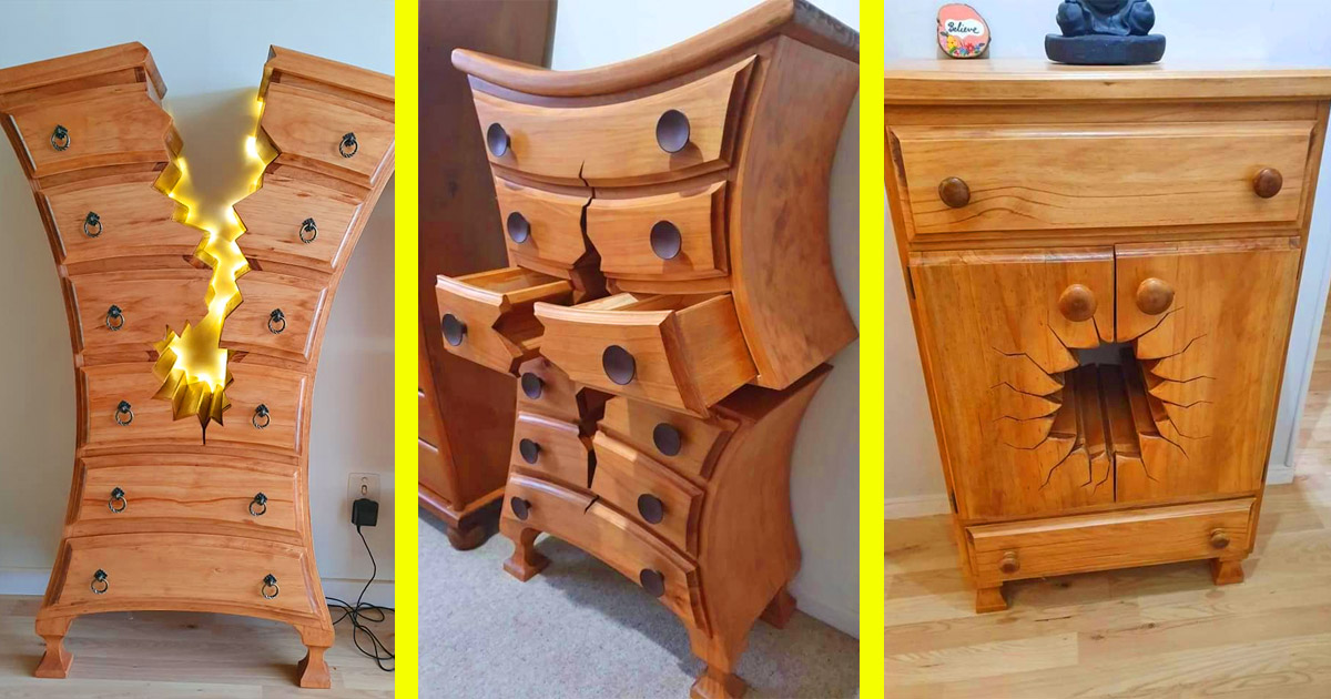 These Incredible Warped and Cracked-Design Dressers Seem Like They Belong In a Disney Movie