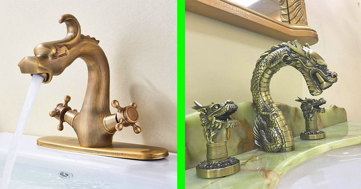 These Incredible Dragon Faucets Would Surely Turn Your Bathroom Into a Place Of Luxury