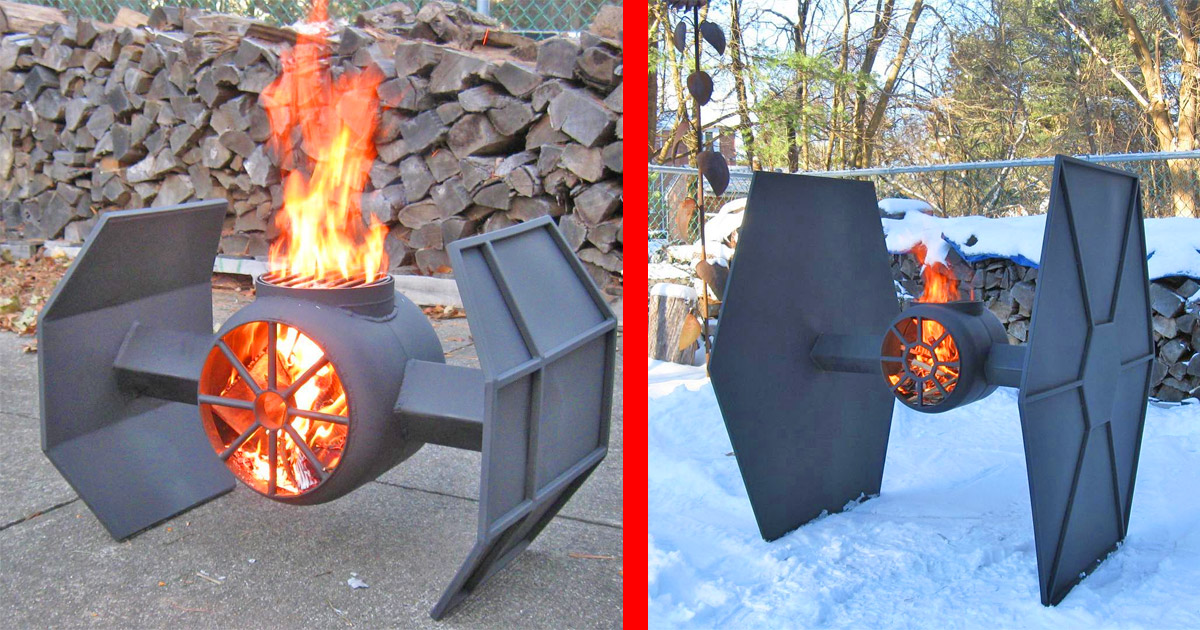 These Incredible Star Wars Tie Fighter Fire Pits Deserve a Spot In Every Geeks Backyard