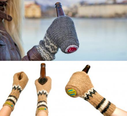 These Ingenious Beer Mitts Have One Sole Purpose, and That Is To Hold a Beer