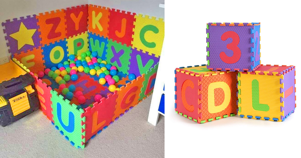 These Interlocking Letter Play Mats Let You Build Your Own Ball Pit