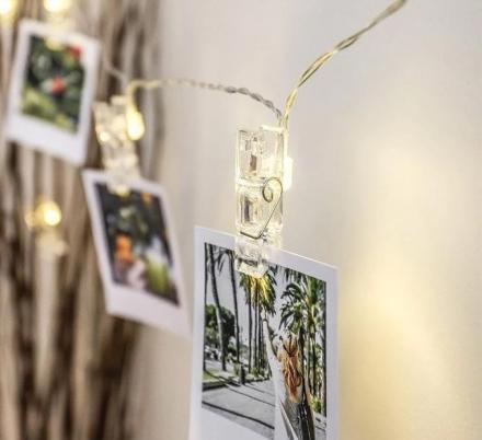 These LED Photo Clip String Lights Are The Coolest Way To Display Your Photos