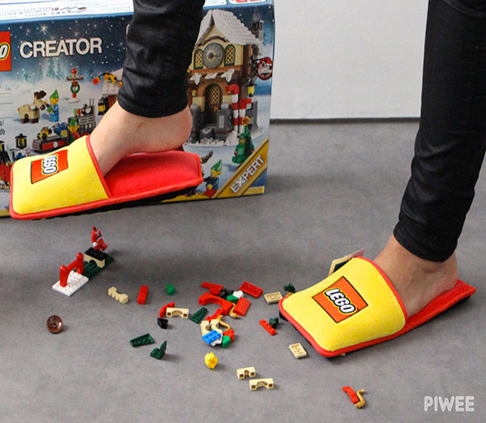 These lego slippers ensure youll never injure your feet stepping on legos again 0