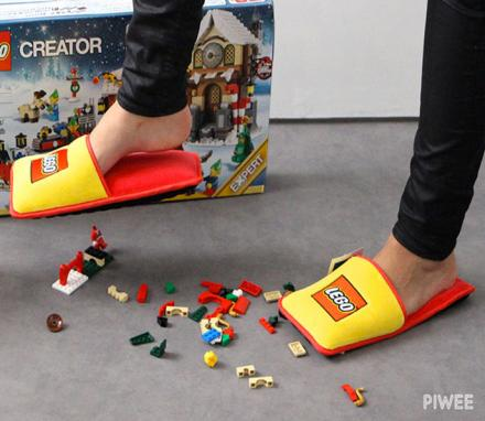These Lego Slippers Ensure You'll Never Injure Your Feet Stepping On Legos Again
