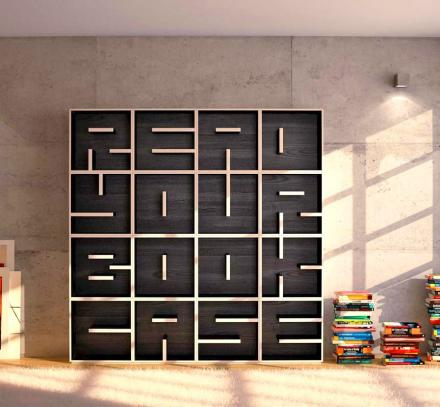 These letter shaped bookcases let you spell anything you want - What did the wall say to the bookcase ...