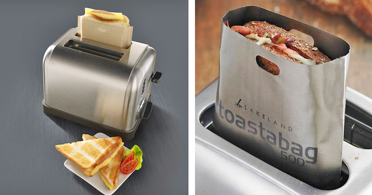You Can Get Little Toaster Bags That Let You Make Grilled Cheese Sandwiches In Your Toaster