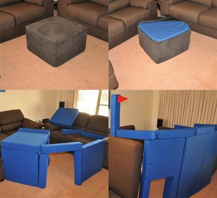 These Magnetic Pillow Fort Cushions Pack Away Into an Ottoman When Not In Use